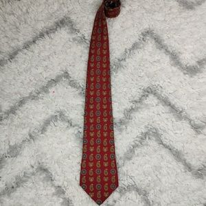 Tommy Hilfiger Tie Paisleys & Coat of Arms Pattern